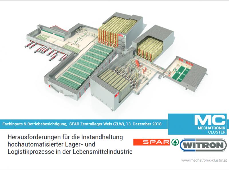 Gemeinsam mit SPAR und der WIOSS WITRON on Site Services organisiert der Mechatronik-Cluster am 13. Dezember eine Betriebsbesichtigung im SPAR Zentrallager in Wels inkl. Experteninput zum Thema: