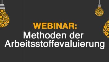 MFA Webinar: Methoden der Arbeitsstoffevaluierung - ConPlusUltra